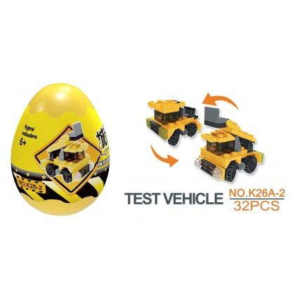 Egg Capsule Building Block - City Engineer - Test Vehicle