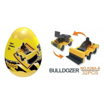 Egg Capsule Building Block - City Engineer - Bulldozer