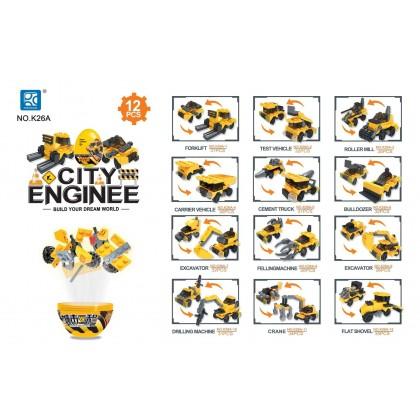 Egg Capsule Building Block - City Engineer - Crane