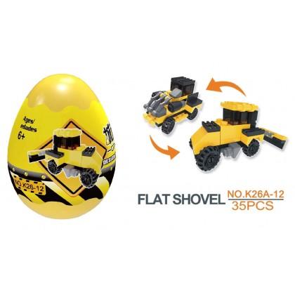 Egg Capsule Building Block - City Engineer - Flat Shovel