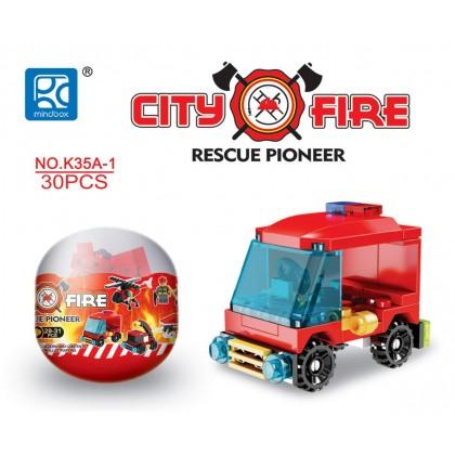 Egg Capsule Building Block - City Fire - Rescue Pioneer 1