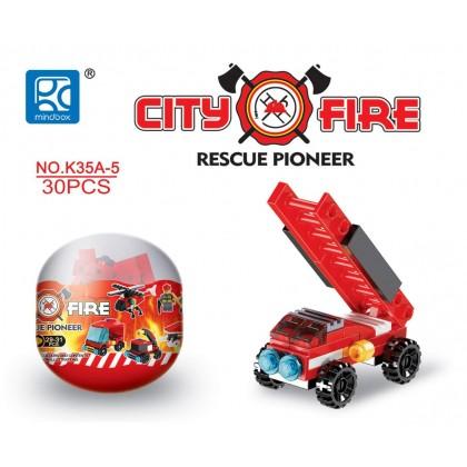 Egg Capsule Building Block - City Fire - Rescue Pioneer 5