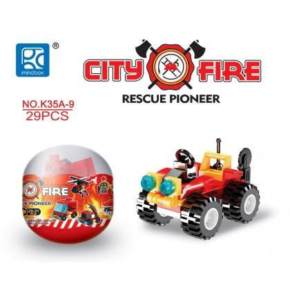 Egg Capsule Building Block - City Fire - Rescue Pioneer 9