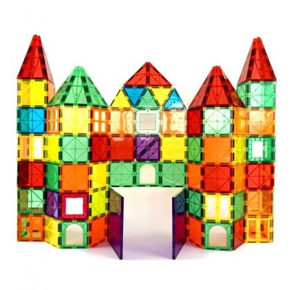 WonderMags 120 - 3D Magnetic Tiles Building Block STEM Toy - Box of 120 Tiles